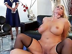 Matures Blonde Karen Fisher Is Having A Good Time Pleasing And Sucking Youthful Ramon