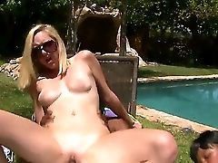Coffee Chocolate-colored And Rylie Richman In The Interracial Swingers Soiree Near The Pool