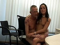 Old Accountant And His Hot As Hell Assistant Fucking