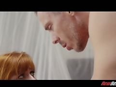 Crimson Haired Gf Penny Pax Is Fucked By Her Beau And His Friend