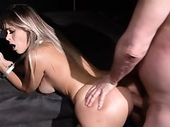 Obedirnt Blonde Gets Butt Fucked In Exotic Bondage & Discipline Have Fun