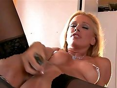 Sandy Is A Wonderful Blonde-haired Honey With Lengthy Gams And
