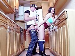 Finish Anal Intercourse In The Kitchen With Youthfull Nekane