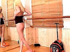 Gorgeous Skinny Blondie Tiffany Fox Just Got Back From The School Excursion And Now Is Standing In Front Of The Mirror Totally Naked And Posing On Cam