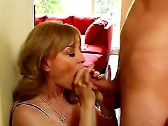Matures Bitch Nina Hartley Put On Her Sexiest Clothes With Stocking And High High-heeled Slippers On She Tempts A Youthfull Stud Danny Wylde And Made