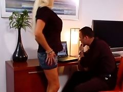 Hot Quickie With Brilliantly Shaped Huge-titted Assistant Sharon Pink In The Office