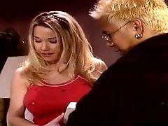 Slender Blonde Stunner Gets Her Twat Pummeled In The Kitchen