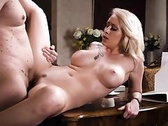 Alluring Romantic Blonde Stunner Christina Shine Gets Poked Hard On The Table