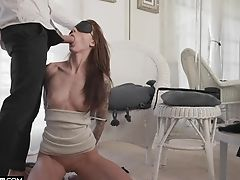 Blinded Kendra Cole Gets Disrobed For An Erotic Tying Fuck
