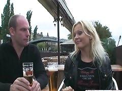 Horny Duo Fucking On Public Bench