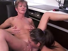 Moms Having Girl/girl Romp With Daughters-in-law