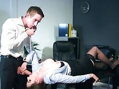 Office Stunner Talsk On The Phone And Fucks Like A Whore