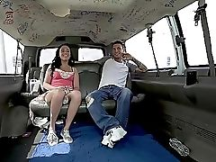 Very First Bang Bus Practice And She Loves It