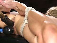 Tied Up Faux Tittied Mummy Sarah Jessie Gets Her Slit Fucked With A Lengthy Faux-cock Stick