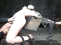 Elaborate Cellar Torment For A Sexy Blonde With Round Hooters