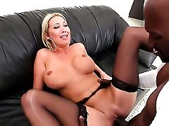 Blonde Lexington Steele With Massive Bra-stuffers Heats Man Up And Takes His Worm
