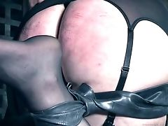 Frogtied With Belts Enslaved Whore Kitty Dorian Is Always Ready For Domination & Submission