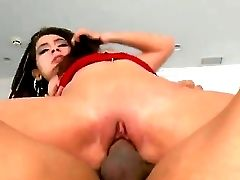 Bitchy Black-haired Allie Jordan With Taut Bootie And Pink Pulverize Grind In Brief Jeans Miniskirt And Cheep Undies Gets Her Taut Cunny Pounded By Mu