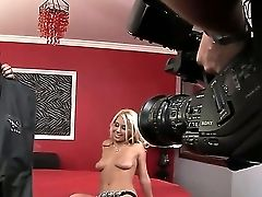 Youthful Blonde Tart Nikky Thorne In Taut Sexy Sundress And G-string Gives Ehad To Tattooed Dude And His Friend And Has Rough Dual Foray With Them At