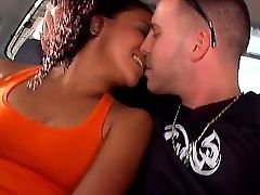 The Prepossessing Dark-haired Superstar Isabel Gets Seduced On A Street And Suck A Rod In A Car