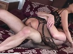 Huge-chested Bianca Burke Perceives Nice About Railing Strong Meatpipe Of Her Stud