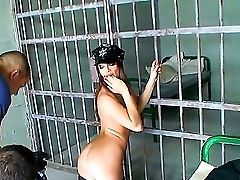 Backstage In The Jail With Supah Hot Ward Eliska Cross Masturbating Her Beaver At The Workplace