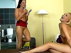 Sandra Shine And Sophie Moon Are Supah Sexy Lesbos Who Love To Get Nasty When The Camera Is On. They Love To Finger Their Horny Cunts And Also To Munc