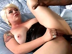 Brief Hair Blonde Missy Fuck-a-thon In Leather Boots Gets Her
