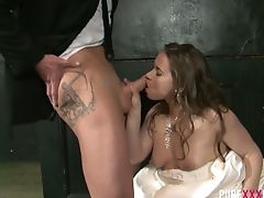 Horny Bride Olga Cabaeva Gets Aggressively Fucked Rear End After The Ceremony