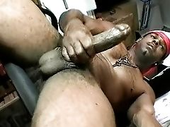 Big Black Dick Groped In The Back Office