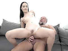Close Up Point Of View Blowage And Fuck With Sasha Sparrow And An Old Dude