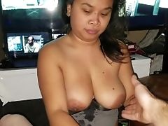 Dick Slappin Tittie/learning How To Deep Mouth Part 1