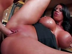 Kerry Louiseis A Romp Starved Black Haired Lady With Enormous