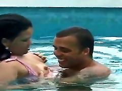 Welcome To The Nasty Pool Where Our Nice Brazilian Duo Anselmo And Jolie Are Doing Wild Things