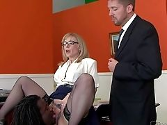 Nina Hartley Is A Four-eyed Matures Blonde Who Gives Deep Throat