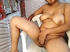 Beautiful  Indian Nymph Displaying Bosoms