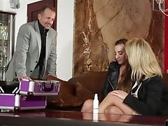 Horny Chicks Amirah Adara And Sasha Steele Are Fucked By Two Deviant Guys