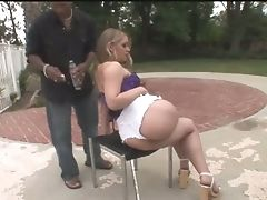 Zealous Big Bottomed Milky Cowgirl Kiara Marie Hops On Strong Big Black Cock