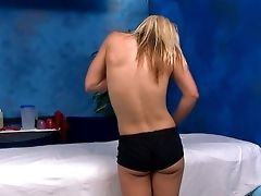 Ash-blonde Hotty Misty Takes Off Her Black Cut-offs And Panty