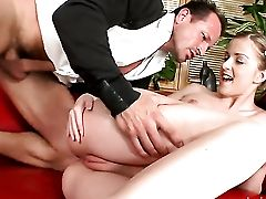 Dark Haired Abigaile Johnson Is In The Mood For Pole Sucking In Fellatio Act With George Uhl