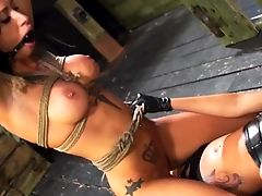 Strap Dildo Fuckfest Inbetween Alby Rydes And Esmi Lee