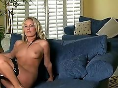 The Gorgeous Blonde Adult Movie Star Kiara Diane With A Natural Tits Penetrates Her Poon With A Fake Penis