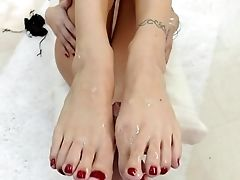 Feet Fetish Spunky Porno With Gorgeous Alana Cruise